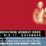 Robert Schumann Programm Endenicher Herbst 2003