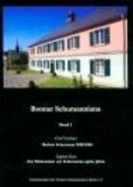 Bonner Schumanniana Band 1