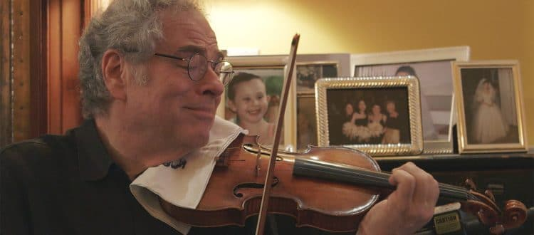 Itzhak Perlman at home - courtesy of Greenwich Entertainment
